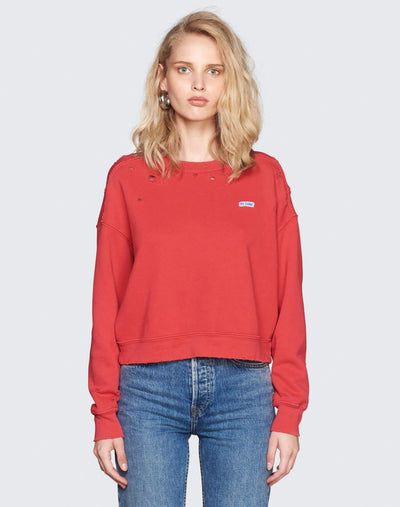 Worn Crew Sweatshirt | Raspberry | 010-5WCN | 1