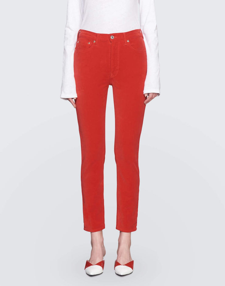 Velvet High Rise Ankle Crop | Red | 710-3WHRAC | 1