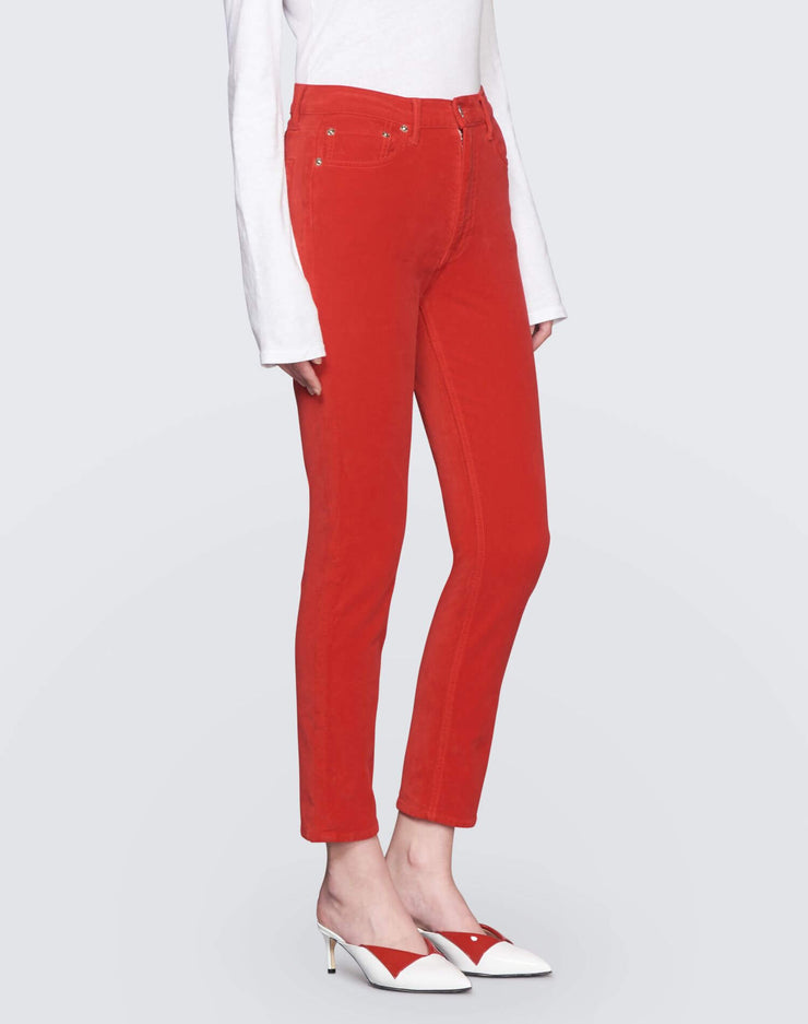 Velvet High Rise Ankle Crop | Red | 710-3WHRAC | 3