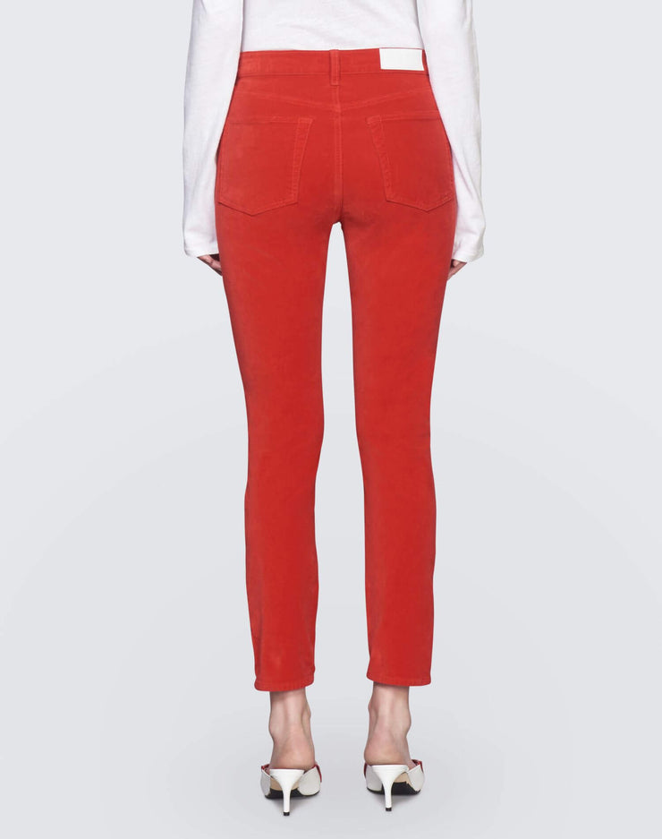 Velvet High Rise Ankle Crop | Red | 710-3WHRAC | 4