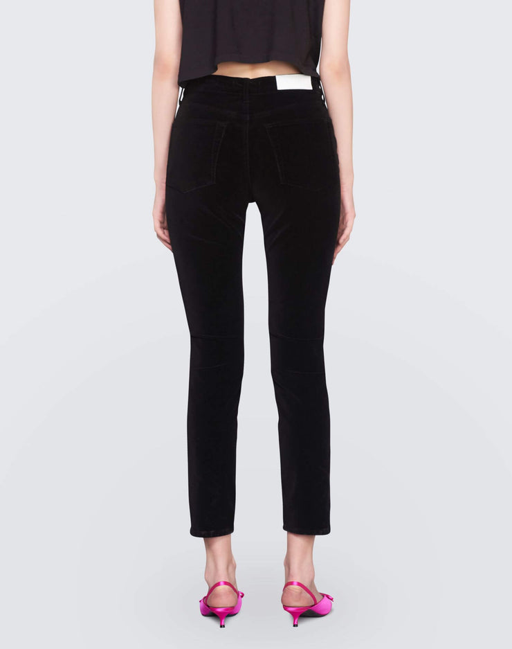 Velvet High Rise Ankle Crop | Black | 710-3WHRAC | 4