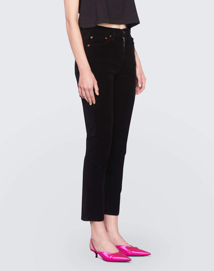 Velvet High Rise Ankle Crop | Black | 710-3WHRAC | 3