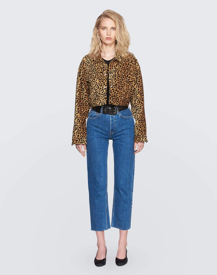 Cropped Jacket | Leopard | 900-4WLCJ | 2