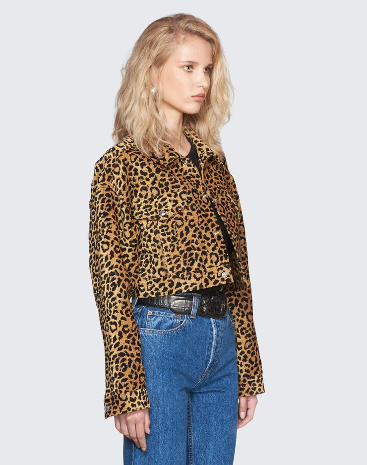 Cropped Jacket | Leopard | 900-4WLCJ | 3