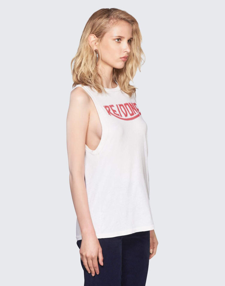 Logo Graphic Muscle Tee | Vintage White | 024-2WMT112 | 3