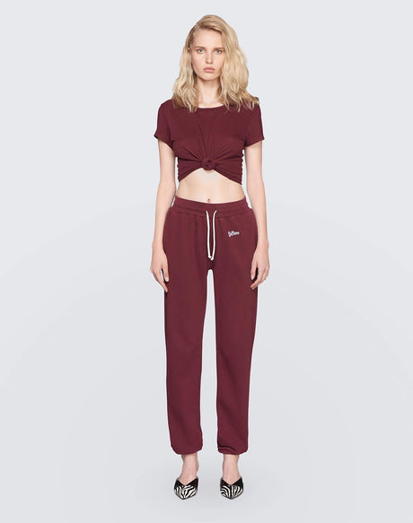 The Sweatpant w/ Embroidery | Burgundy | 010-5WSPTE | 1