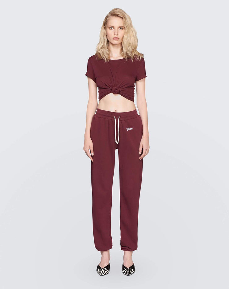 The Sweatpant w/ Embroidery | Burgundy | 010-5WSPTE | 2