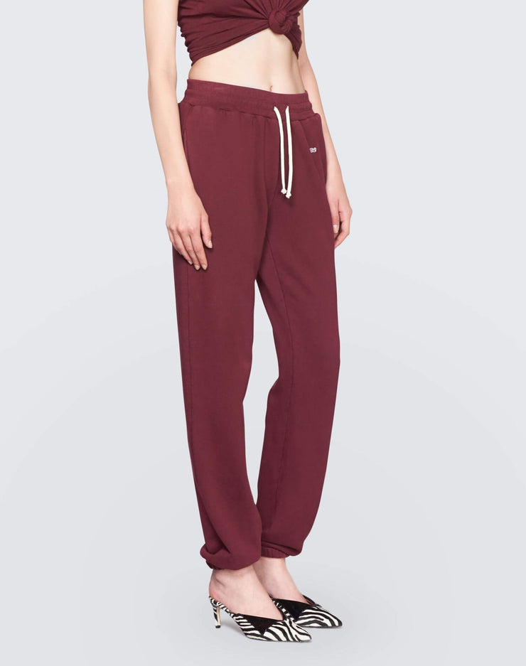 The Sweatpant w/ Embroidery | Burgundy | 010-5WSPTE | 3