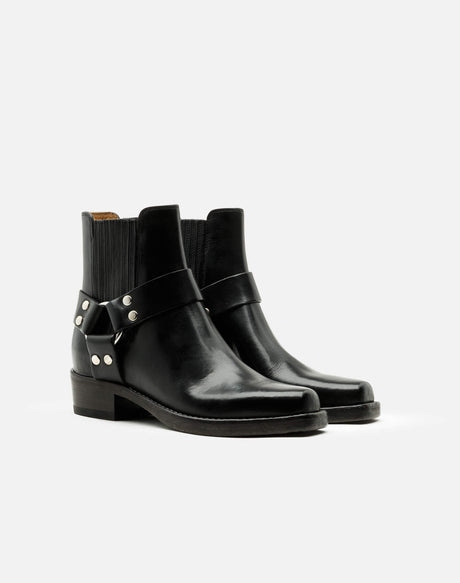 Short Cavalry Boot - Black