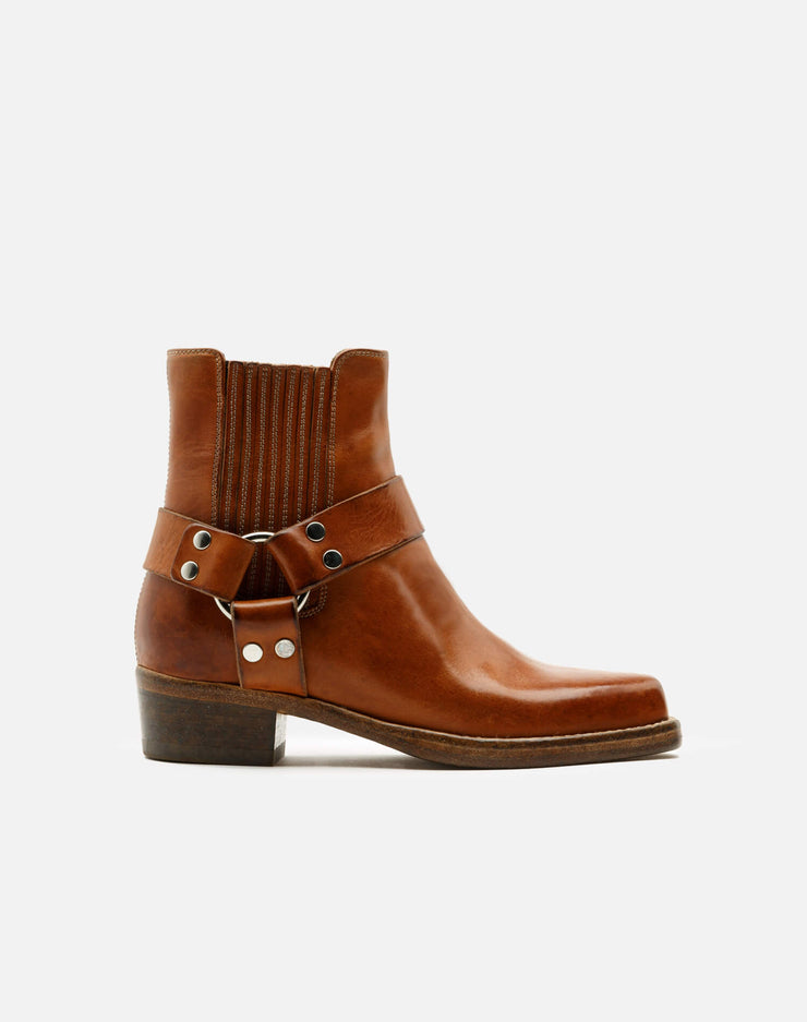 Short Cavalry Boot - Worn Caramel