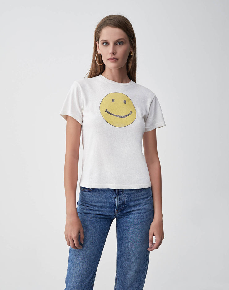 "The Classic ""SMILEY"" Graphic Tee - Vintage White"
