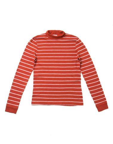 1960's Striped Slim Turtleneck - Vintage Red