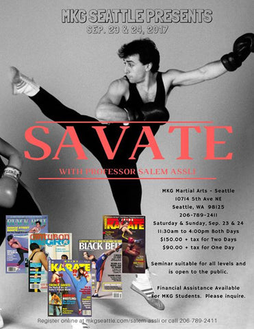 Professor Salem Assli Seattle Savate Sept 2019