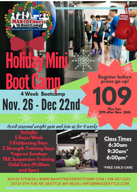 MAX10 Fitness Holiday Mini Boot Camp