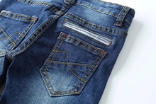 Load image into Gallery viewer, Distressed Jeans - Dark Blue