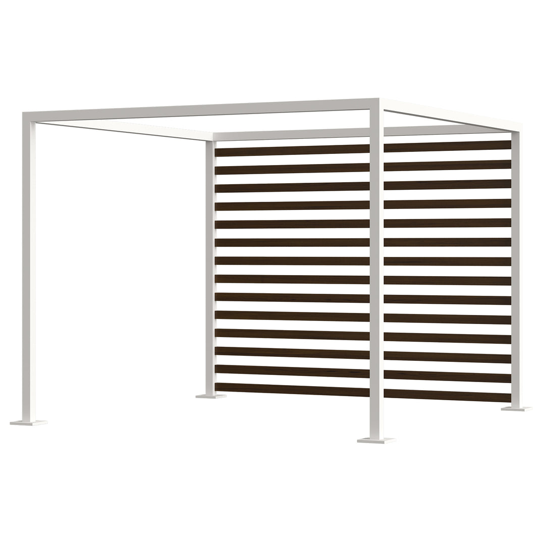 Breeze Cabana 10' Optional: Aluminum Wood Grain Slats - Back