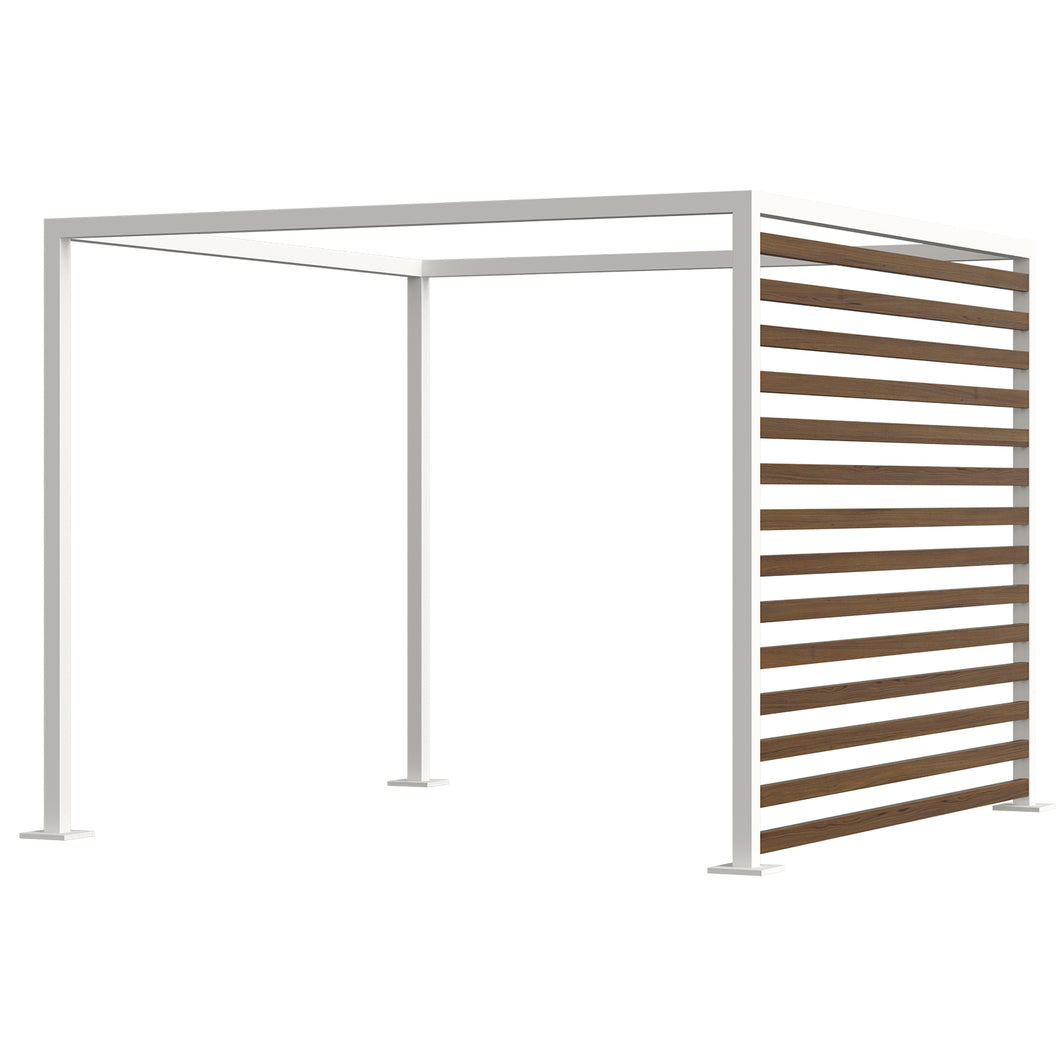 Breeze Cabana 10' Optional: Aluminum Wood Grain Slats - Right Side