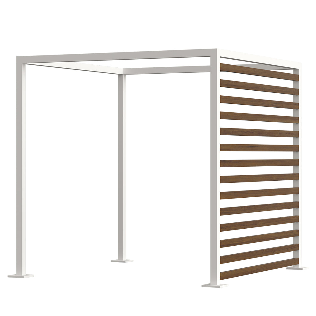 Breeze Cabana 8' Optional: Aluminum Wood Grain Slats - Right Side