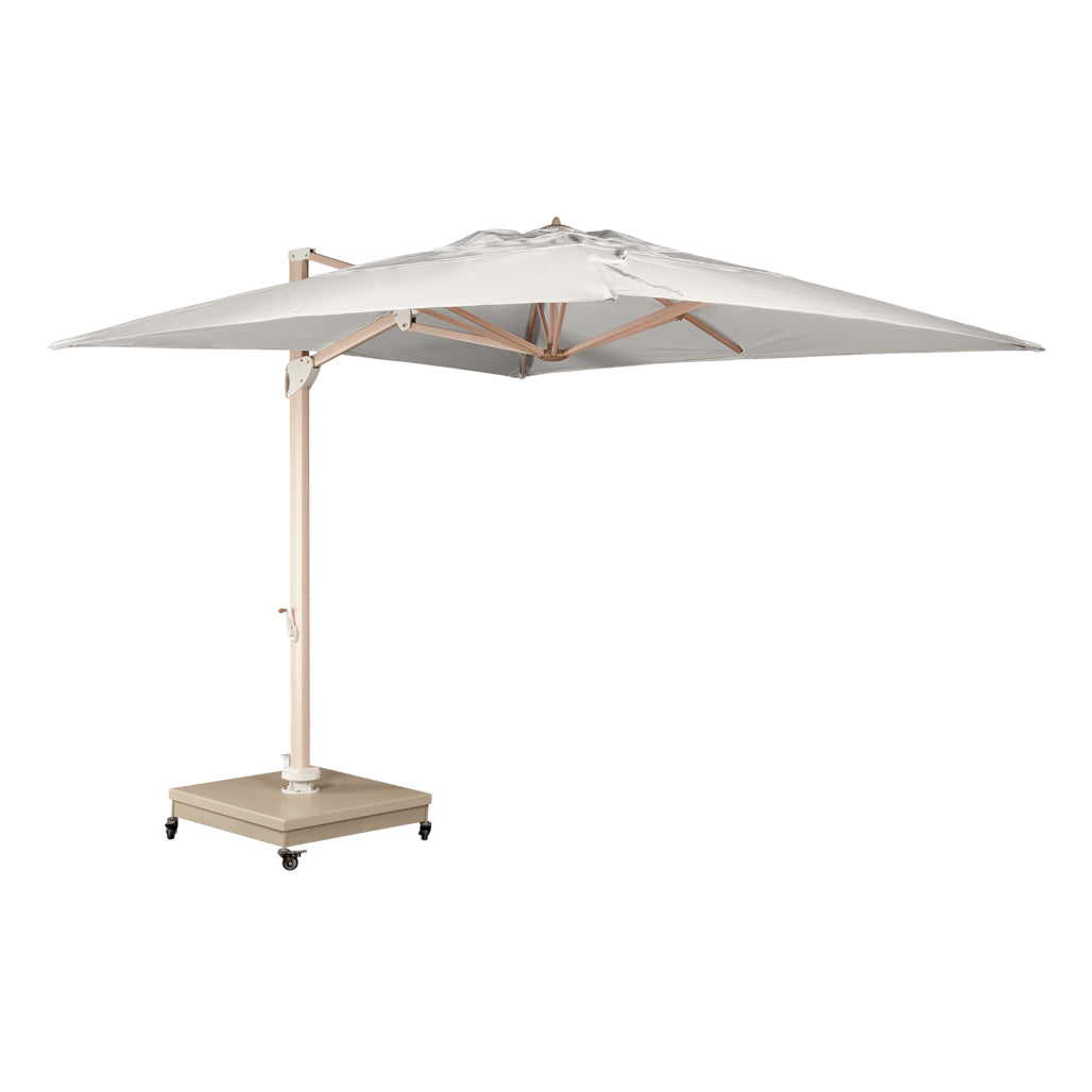 The Grand 10' Cantilever Umbrella (Square) - Wood