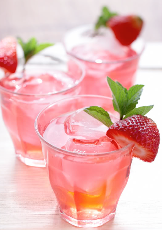 Strawberry White Tea Sparkler
