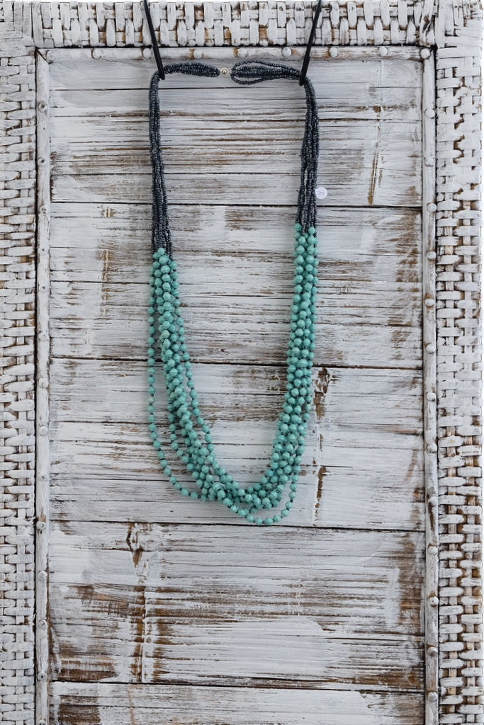 Mint Many Strand Necklace