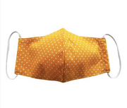 Yellow Polka Dot Face Mask