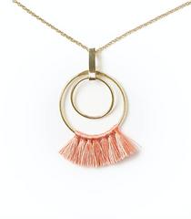 Dani Necklace in Coral