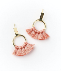 Dani Earrings in Coral