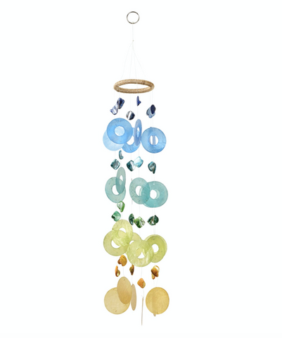 Blue Roundy Windchime