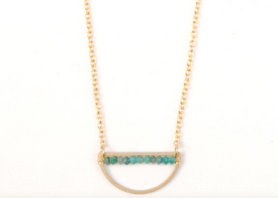 Chrysocolla Rondell Necklace
