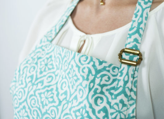 Blockprint Aqua Apron