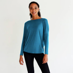 Bamboo & Organic Cotton Turquoise Slouch Top