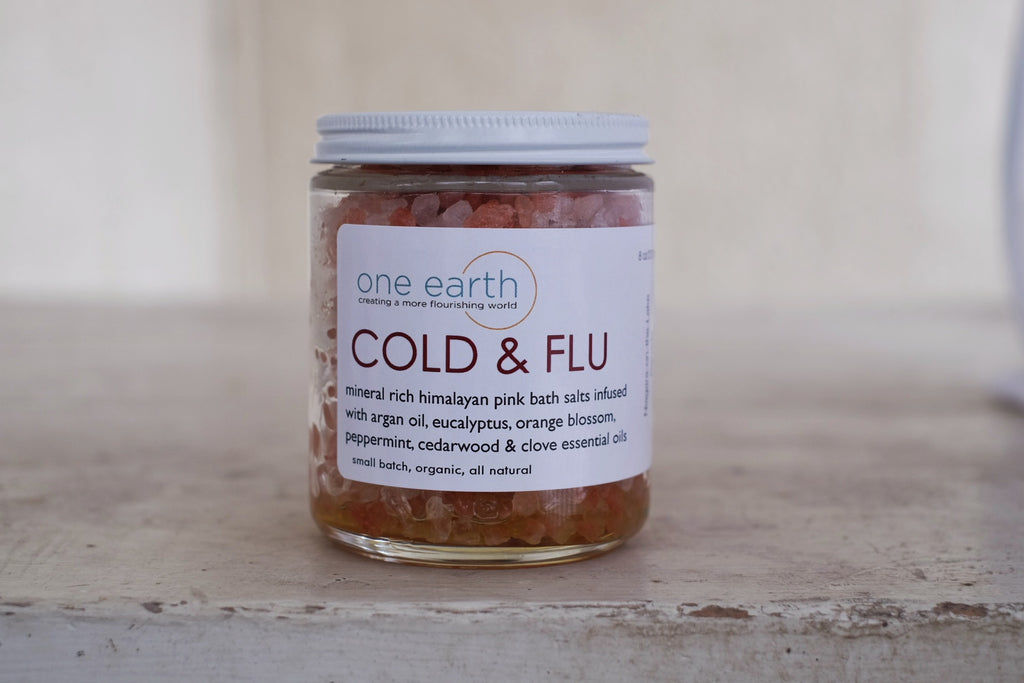 Cold & Flu- Argan Oil Bath Salt Soak