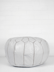 Homewares - Moroccan Pouf - White