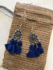 Best Blue Tassel Earrings