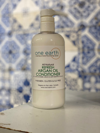 Hair Conditioner with Argan Oil - Cucumber, Lemon & Peppermint