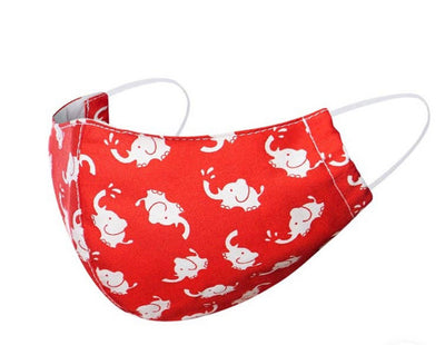 Kids (age 5-8) Red Elephant Face Mask