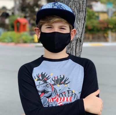 Kids (age 9-12) Black Face Mask