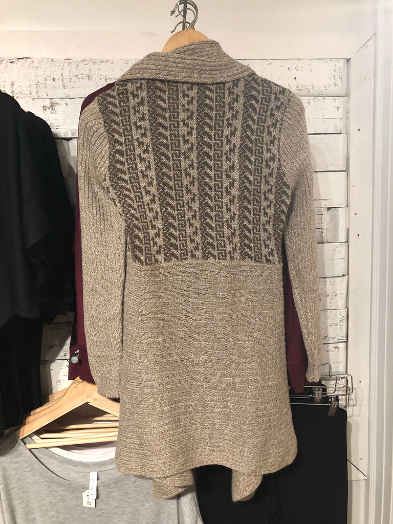 Blight Alpaca Sweater in Grey & Beige