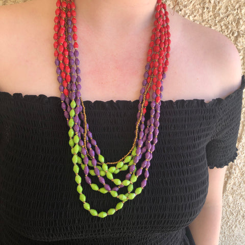Bright Block Necklace