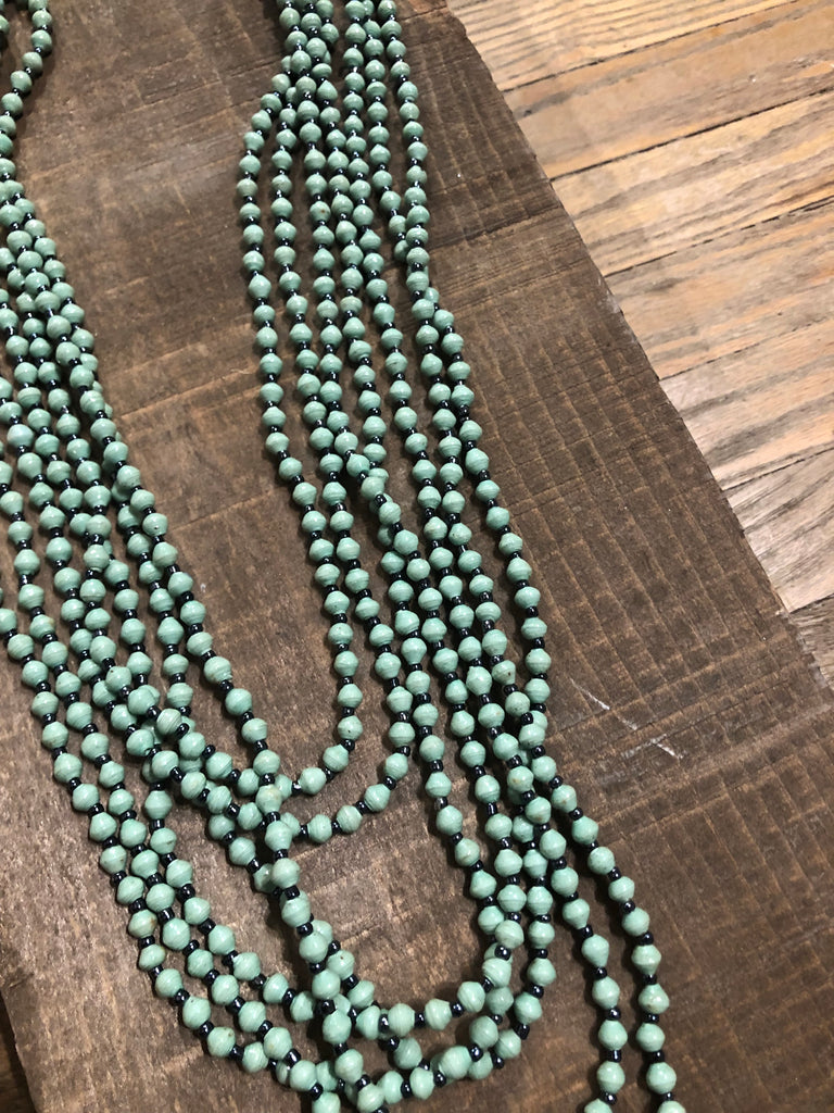 Minty Green Bead Lover Necklace