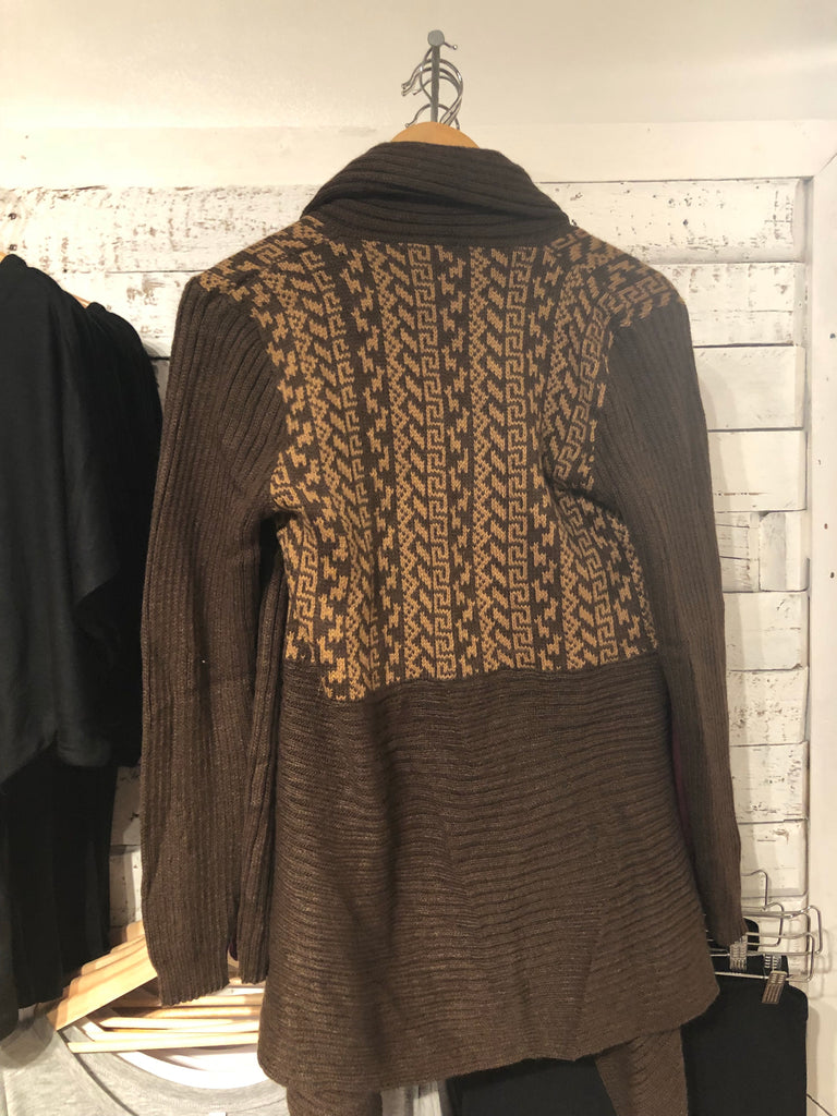 Blight Alpaca Sweater in Brown & Beige