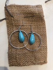 Turq Circ Earrings