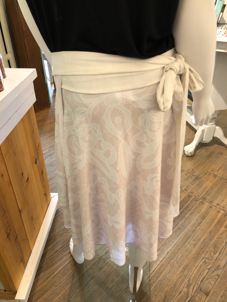 Creamy Wrap Skirt