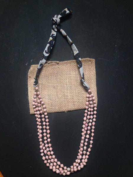 Double Necklace (Ballet Pink)