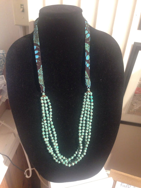 Double Necklace (Winter Turquoise)