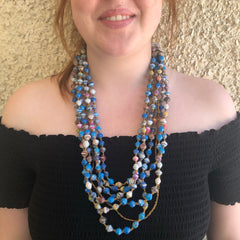 Bluesy Colour Necklace