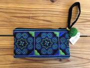 Turquoise Swirl Brocade Clutch