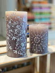 Henna Beige Pillar Candle (different sizes available)