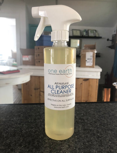 All Purpose Cleaner with clove, cinnamon, lemon, eucalyptus & rosemary essential oils